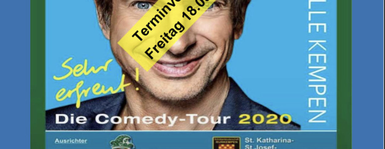 Comedyabend verlegt