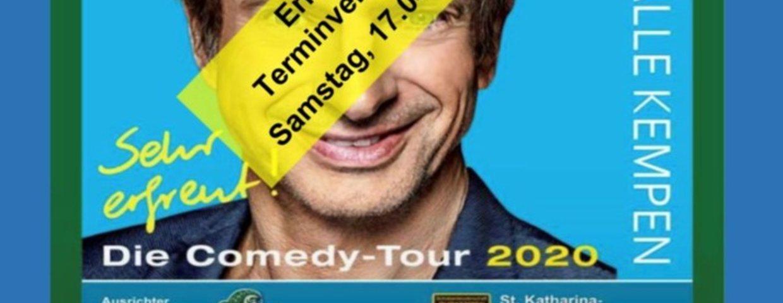 Comedyabend erneut verlegt
