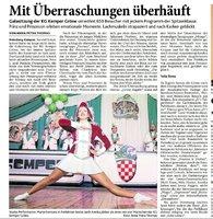 Galasitzung - Bericht aus der HS-Zeitung vom 06.02.2018