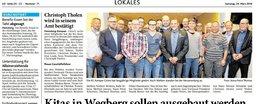 Bericht aus der Heinsberger Zeitung zur Vorstandsversammlung