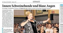 Bericht über den Comedy-Abend aus der Heinsberger Zeitung
